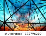 power tower in the sky... | Shutterstock . vector #172796210