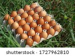 Close Up Of Fresh Eggs In A...