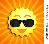 smiling summer sun character... | Shutterstock .eps vector #172796519