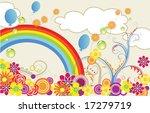 summer greeting card | Shutterstock .eps vector #17279719