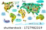 children's world map isolated... | Shutterstock . vector #1727982319