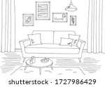 living room graphic black white ... | Shutterstock .eps vector #1727986429