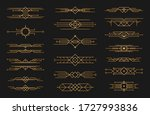 set of art deco black... | Shutterstock .eps vector #1727993836