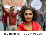 Multiethnic girl at woman...