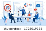 business people team in face... | Shutterstock . vector #1728019336