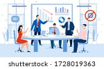 business meeting profit and... | Shutterstock . vector #1728019363