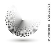 halftone dots in circle form.... | Shutterstock .eps vector #1728021736