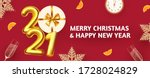 happy new 2021 year  party... | Shutterstock .eps vector #1728024829