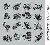 flower set. vintage rose... | Shutterstock .eps vector #172802534
