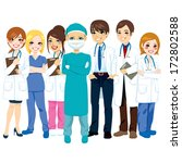 hospital medical team group... | Shutterstock . vector #172802588
