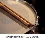 Drumsticks Resting On A Snare...