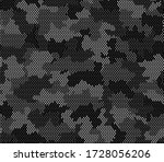 army camouflage hexagon... | Shutterstock .eps vector #1728056206