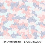 army camouflage hexagon... | Shutterstock .eps vector #1728056209