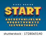 pixel vector alphabet design ... | Shutterstock .eps vector #1728065140