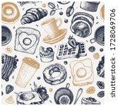 breakfast dishes vector... | Shutterstock .eps vector #1728069706