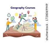 geography course concept.... | Shutterstock .eps vector #1728069949