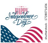happy independence day greeting ... | Shutterstock .eps vector #1728071656