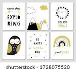 cute hand drawn nursery poster... | Shutterstock .eps vector #1728075520