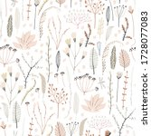cute seamless pattern with... | Shutterstock .eps vector #1728077083