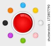 vector glossy button set  ... | Shutterstock .eps vector #172807790