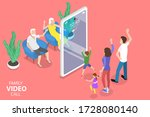 3d isometric flat  concept of... | Shutterstock . vector #1728080140