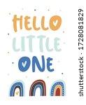 hello little one childish... | Shutterstock .eps vector #1728081829