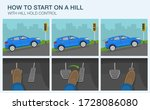 driving a car. how to start on... | Shutterstock .eps vector #1728086080