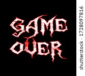 game over text calligraphy ... | Shutterstock .eps vector #1728097816