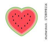 cute watermelon heart isolated...   Shutterstock .eps vector #1728098116