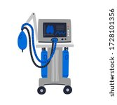 ventilator medical machine....   Shutterstock .eps vector #1728101356