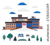 hospital. emergency department...   Shutterstock .eps vector #1728101359