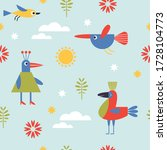 seamless pattern for kids ... | Shutterstock .eps vector #1728104773