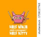 Half Ninja Half Kitty Character ...