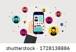 social network illustration.... | Shutterstock .eps vector #1728138886