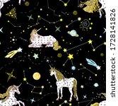 fairy seamless pattern. cosmic...   Shutterstock .eps vector #1728141826