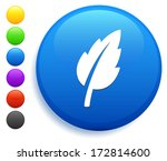 leaf icon on round button... | Shutterstock .eps vector #172814600