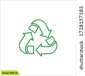 recycle icon illustration...   Shutterstock .eps vector #1728157183
