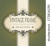 vintage frame | Shutterstock .eps vector #172816250