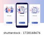 online dating. tiny people...   Shutterstock .eps vector #1728168676