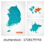 editable template of map of... | Shutterstock .eps vector #1728179743