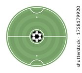 round soccer field with markup... | Shutterstock .eps vector #1728179920