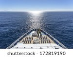 luxury cruise ship at sea  | Shutterstock . vector #172819190
