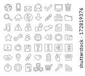 49 hand drawn web icons | Shutterstock .eps vector #172819376