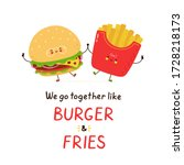 cute happy smiling burger and... | Shutterstock .eps vector #1728218173