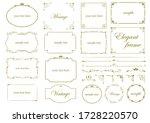 elegant frame set. beautiful... | Shutterstock .eps vector #1728220570