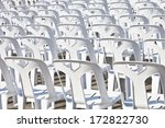 Temporary White Plastic Chairs...