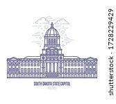 south dakota state capitol... | Shutterstock .eps vector #1728229429