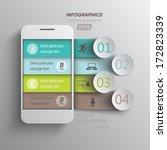 infographics mobile phone data  ... | Shutterstock .eps vector #172823339