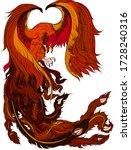 hoenix fire bird isolate on... | Shutterstock .eps vector #1728240316
