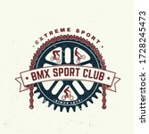bmx extreme sport club badge  t ... | Shutterstock .eps vector #1728245473